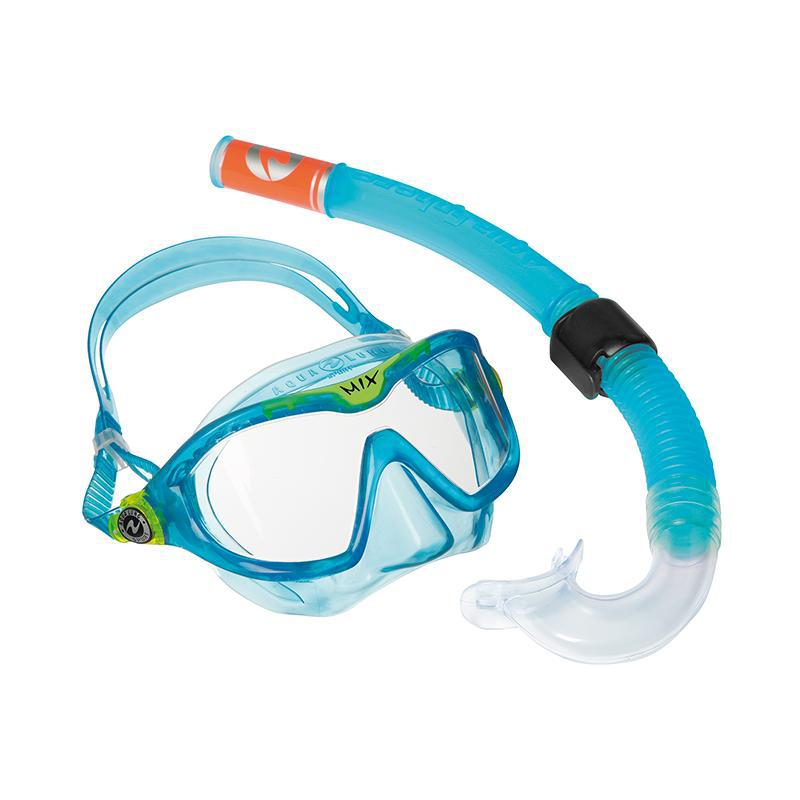 Aqua Lung Swimming Mask & Snorkel Combo Mix - Aqua