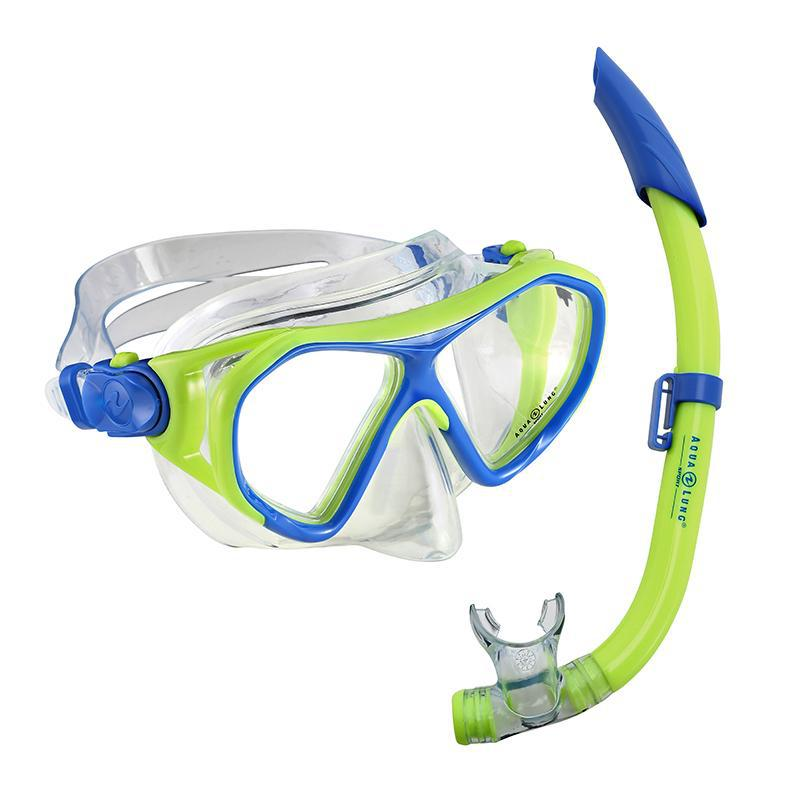 Aqua Lung Urchin Jr. Mask & Pike Jr. Snorkel Set - Blue/Green