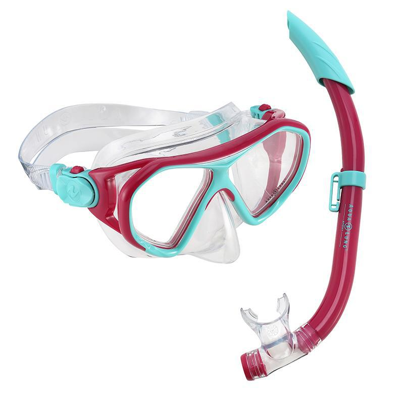 Aqua Lung Urchin Jr. Mask & Pike Jr. Snorkel Set - Pink/Teal