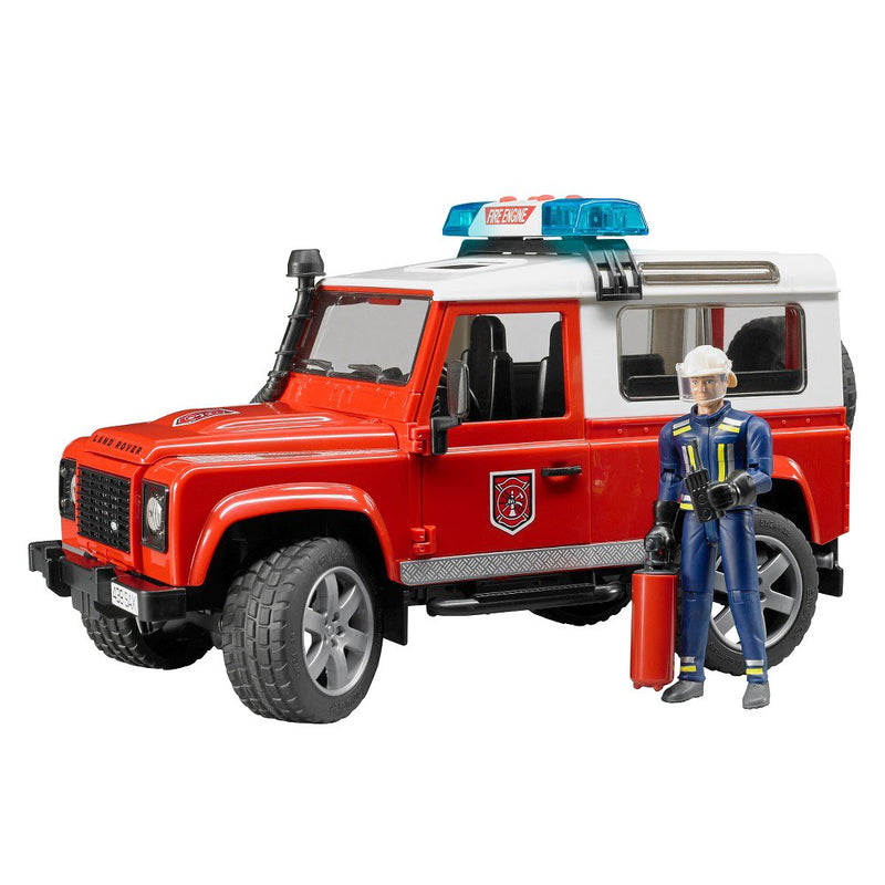 Land Rover Fire Dept w Figure