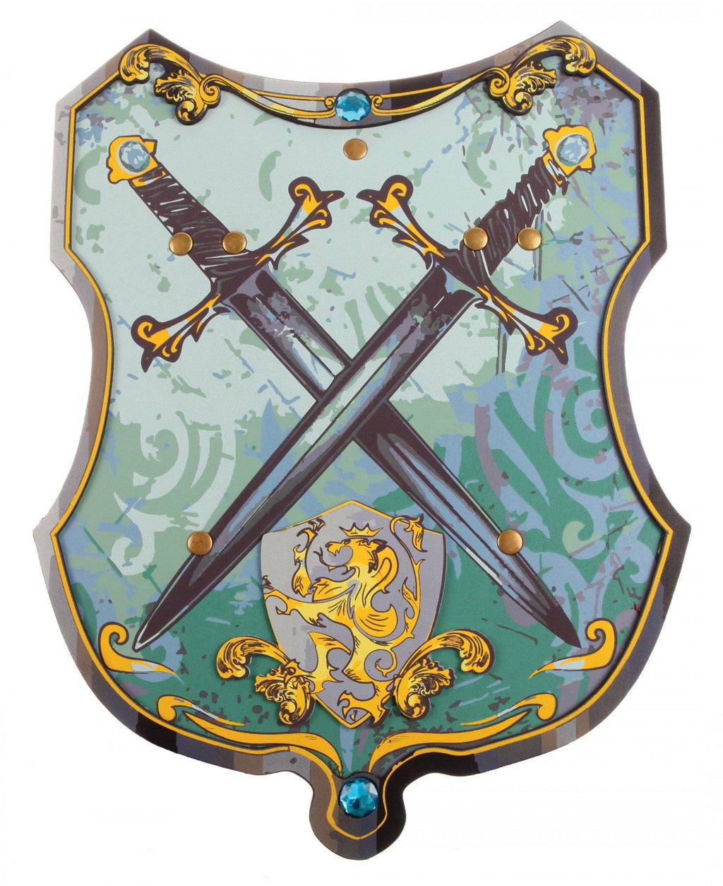 Knight Shield, Blue/Gold EVA