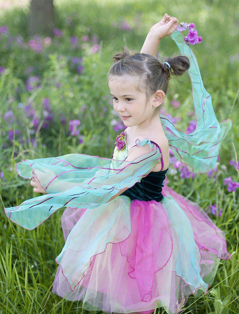 Fairy Blossom Dress Teal Pink
