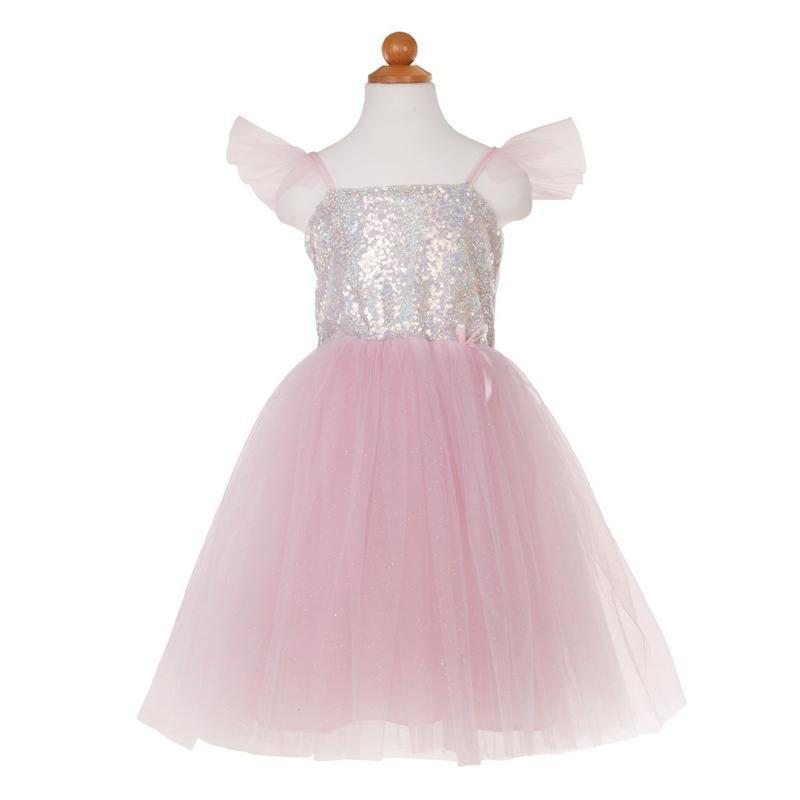 Silver Sequin Princess Dress