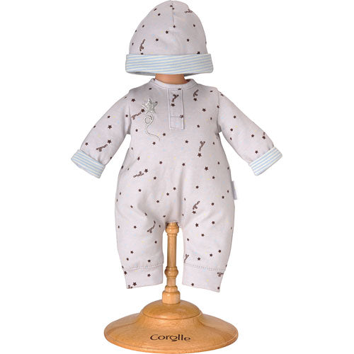 Corolle Grey Star Pajamas & Hat