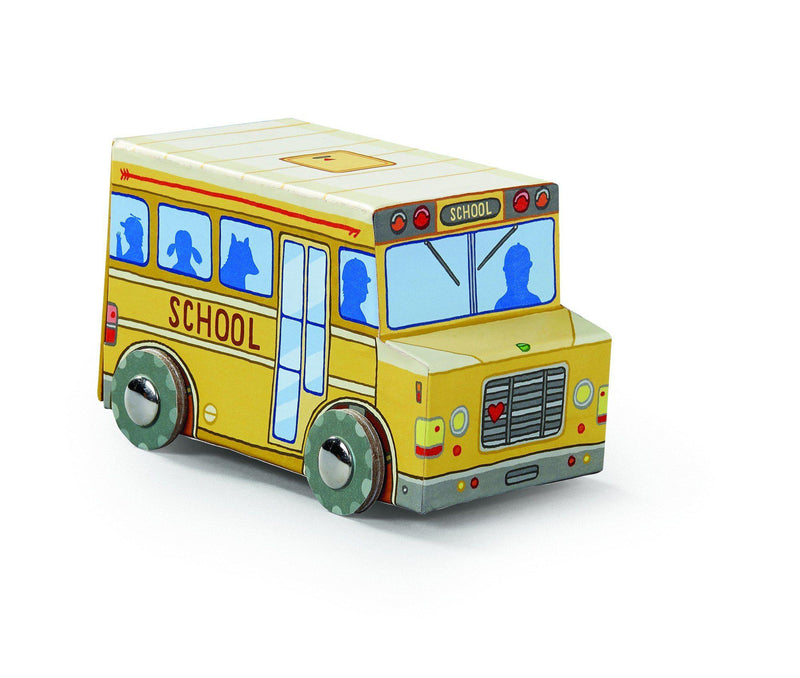 Puzzle 24pc MiniVehicle Bus
