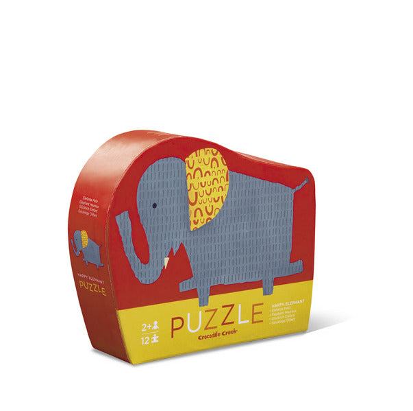 Puzzle 12pc Happy Elephant