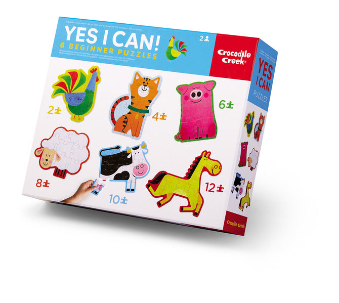 Crocodile Creek Puzzle - Yes I Can 6 Puzzle Set - Barn
