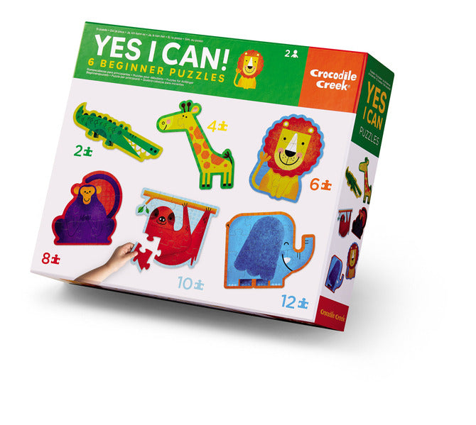 Crocodile Creek Puzzle - Yes I Can 6 Puzzle Set - Jungle