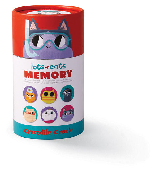 Crocodile Creek Memory Game Canister - Lots Of Cats
