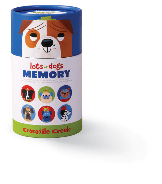 Crocodile Creek Memory Game Canister - Lots Of Dogs