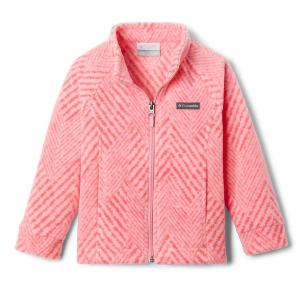 Columbia Fleece Jacket - Benton Springs 2 (Infant) - Pink Orchid Chevron