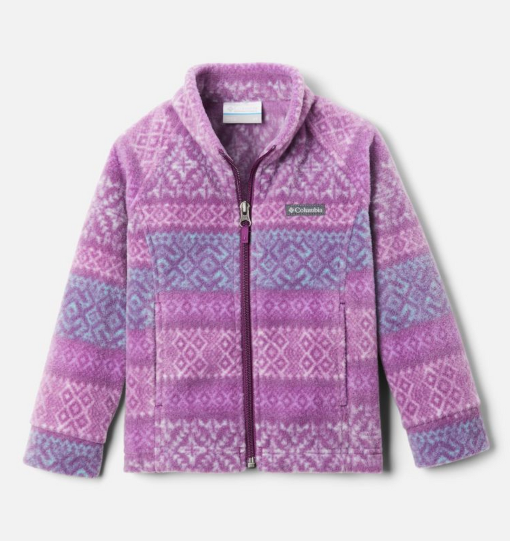 Columbia Fleece Jacket - Benton Springs 2 - Plum Fairisle