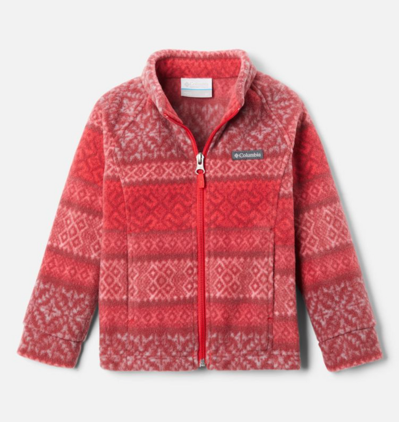 Columbia Fleece Jacket - Benton Springs 2 - Red Lily Fairisle