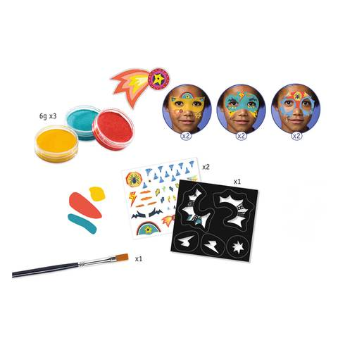 Djeco Face Paint Set - Superheroes