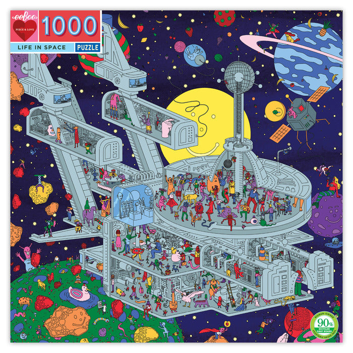 Puzzle 1008pc Life In Space