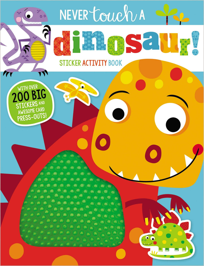 Book Never Touch A Dino Sticke