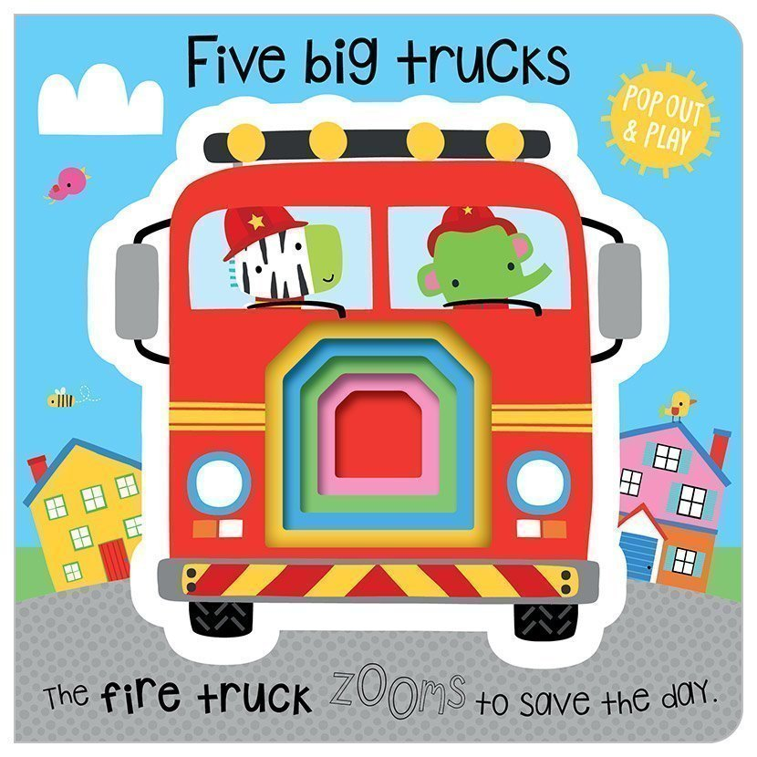 Board Book PopOut 5 Big Trucks