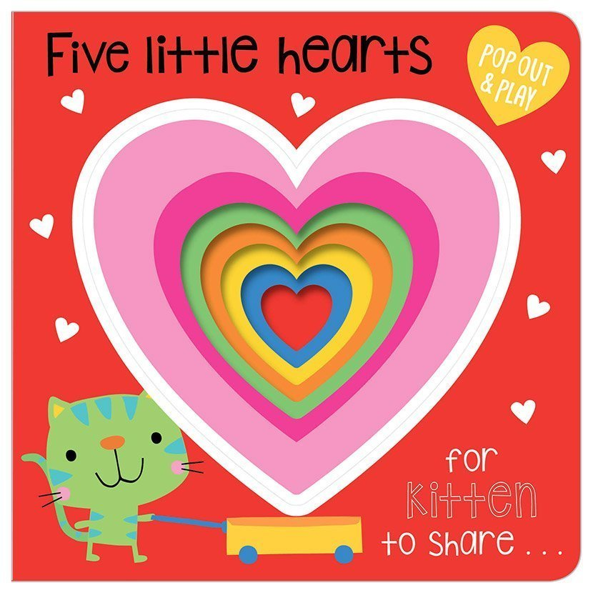 Board Book PopOut 5 Lil Hearts