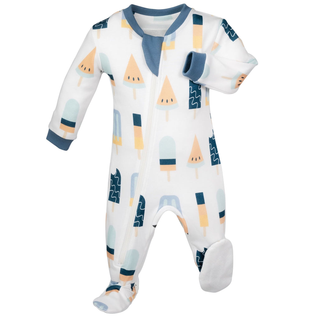 ZippyJamz Footed Coverall - Anything Is Popsicle