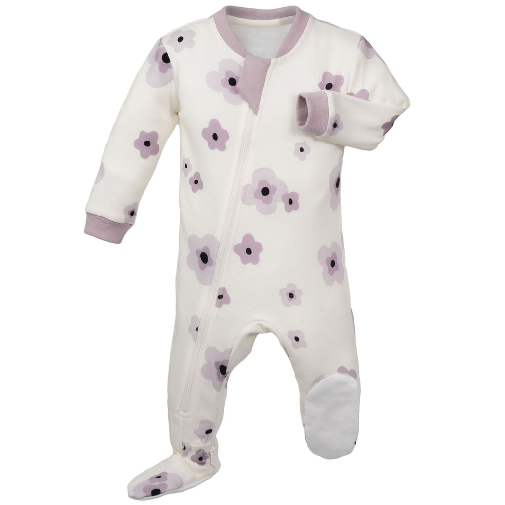 ZippyJamz Footed Coverall - Poppy Perfection