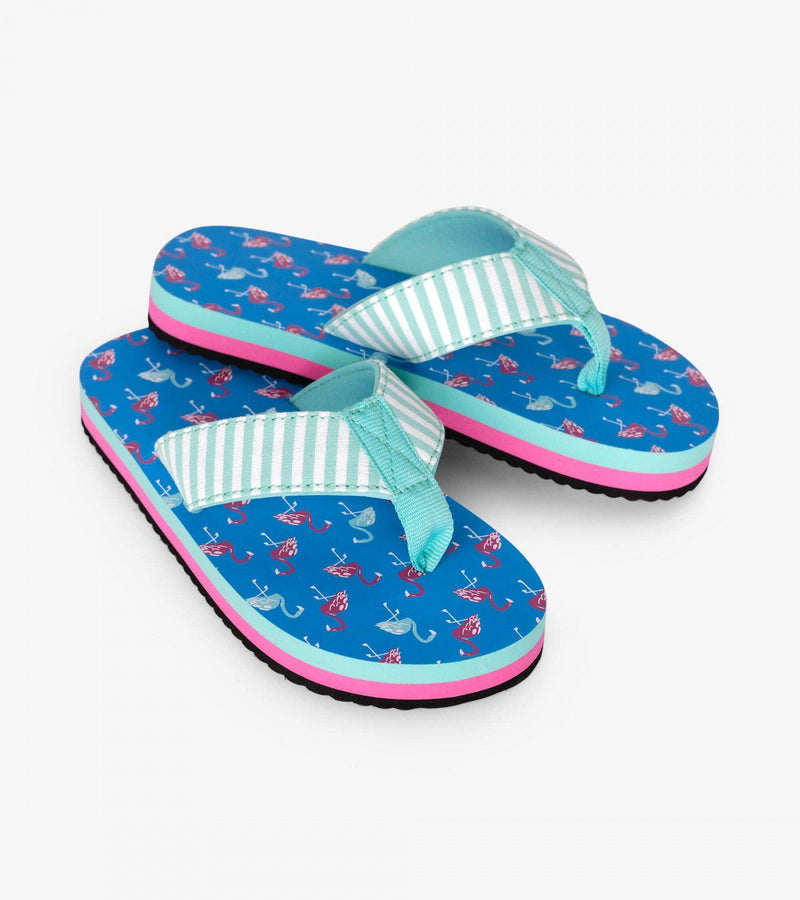 Hatley Flip-Flops - Fancy Flamingos