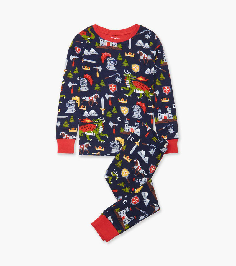 Hatley Organic Cotton Pajama Set - Knights & Dragons