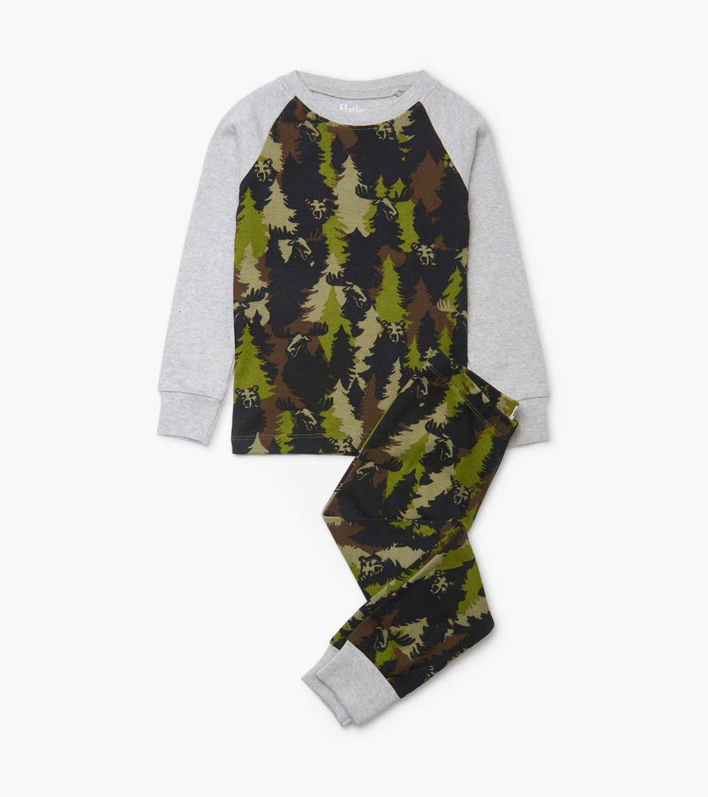Hatley Organic Cotton Pajama Set - Forest Camo