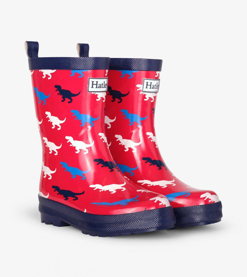 Hatley Rain Boots - Shiny T Rex Silhouettes