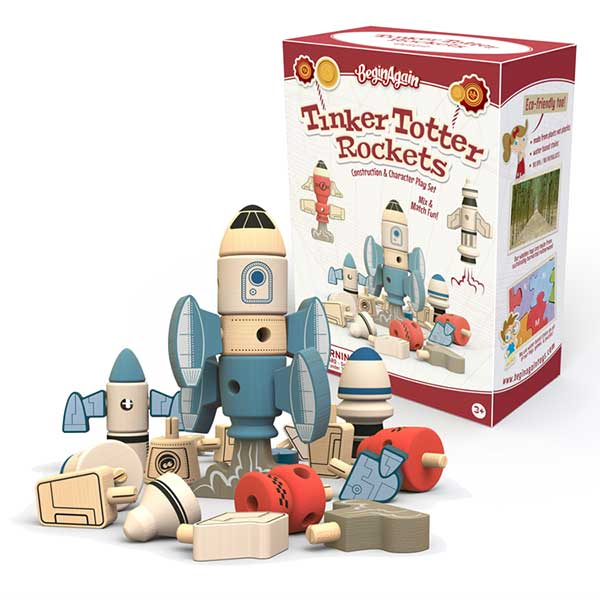 Begin Again Toys Tinker Totter Rockets