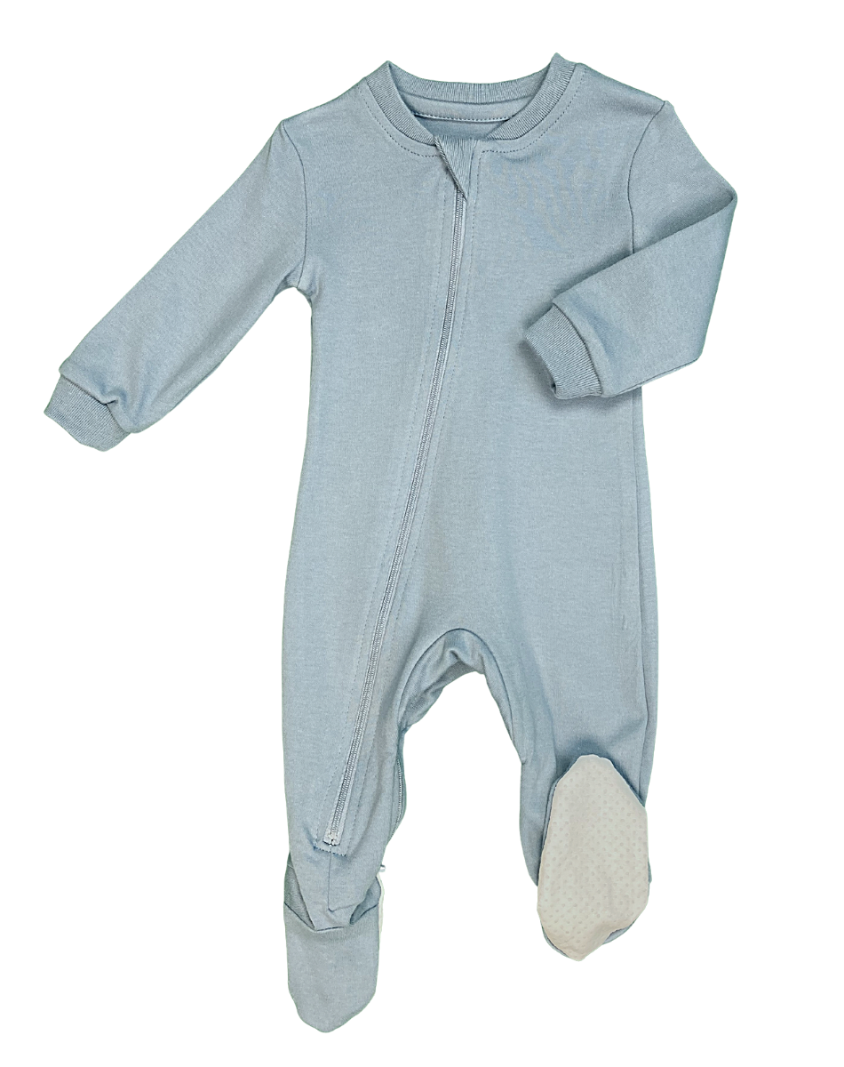 ZippyJamz Footed Coverall - Into You Blue