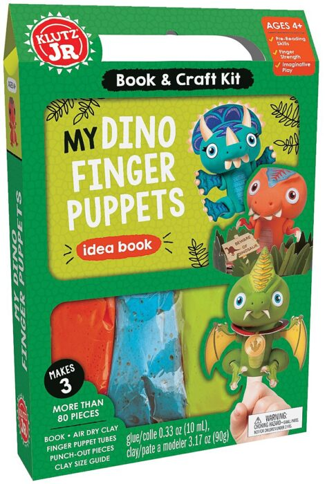 Klutz Jr. My Dino Finger Puppets Book & Craft Kit