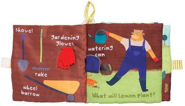 Manhattan Toys Fabric Activity Book - Lemon The Bear Plants A Garden