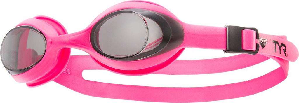 Tyr Swimming Youth Goggles Flexframe - Smoke/Pink