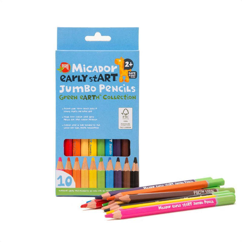 Micador Early stART Jumbo Pencil Crayons - 10pk
