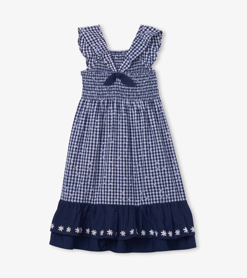 Hatley Dress - Gingham Bow Smock Maxi
