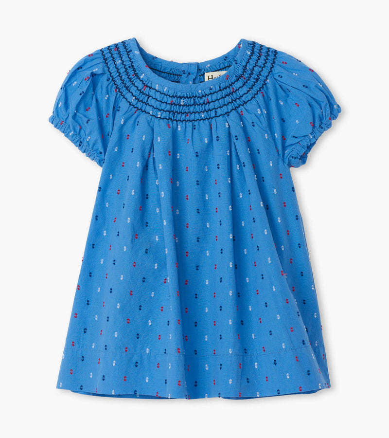 Hatley Baby Smock Dress - Nautical Swiss Dots