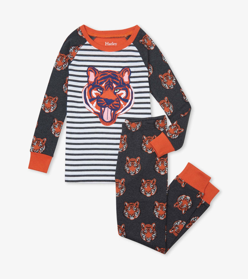 Hatley Organic Cotton Pajama Set - Fierce Tigers