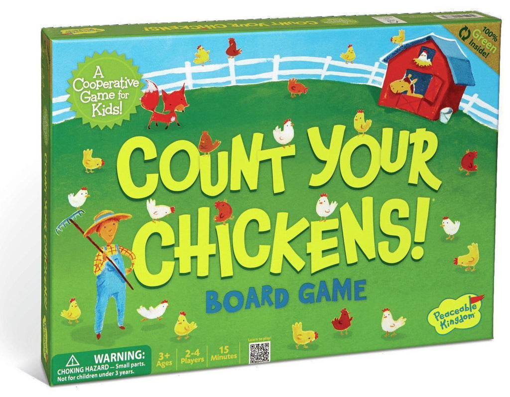 Peaceable Kingdom Press Board Game - Count Your Chickens