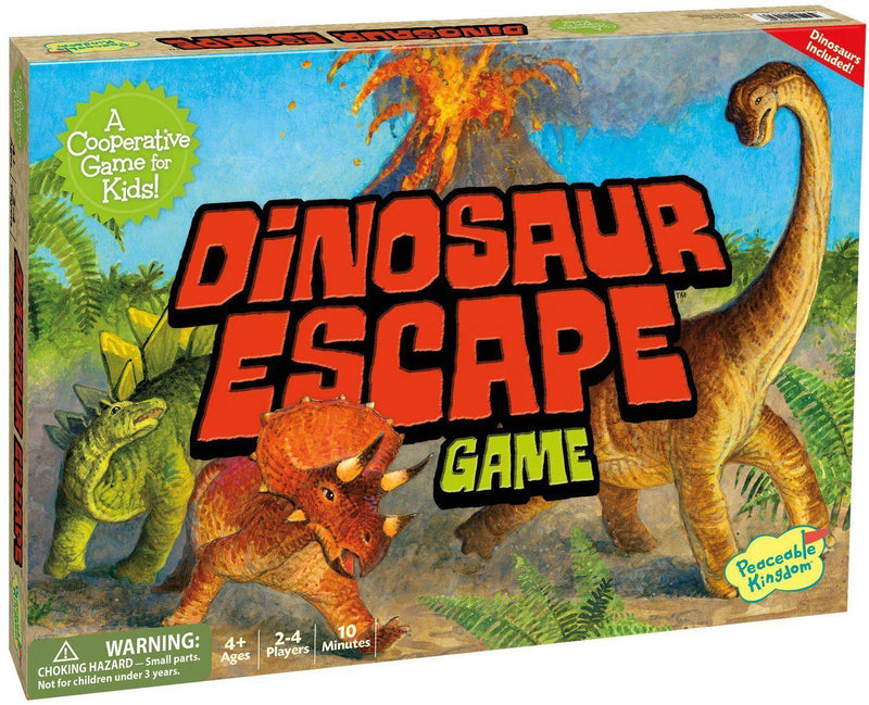 Peaceable Kingdom Press Board Game - Dinosaur Escape