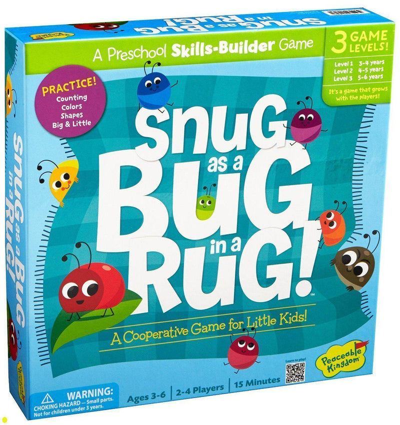 Peaceable Kingdom Press Board Game - Snug As A Bug In A Rug