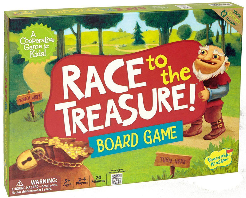 Peaceable Kingdom Press Board Game - Race To The Treasure
