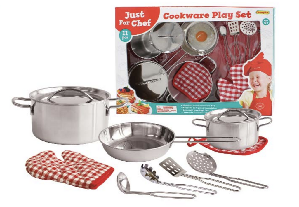 11pc Steel Cookware Set