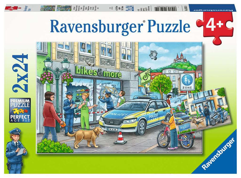Ravensburger Puzzle - 2 x 24pc - Police At Work
