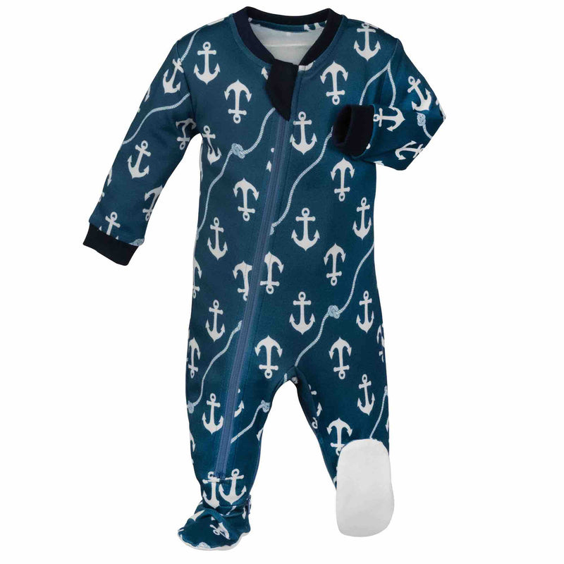 ZippyJamz Footed Coverall - Baby Matey