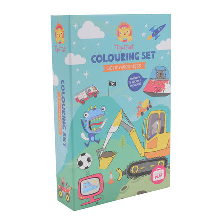 Boys Favourites Colouring Set