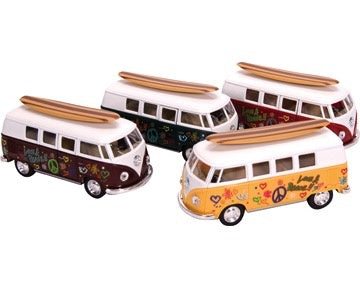Diecast VW Bus w/ Surfboard