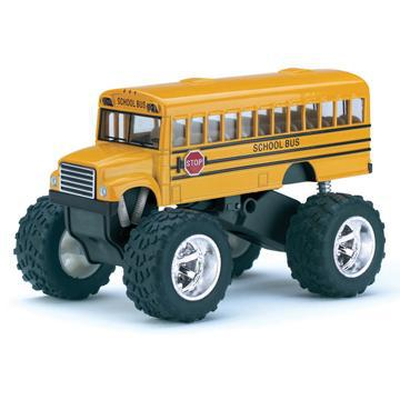 School Bus Die Cast Big Wheel