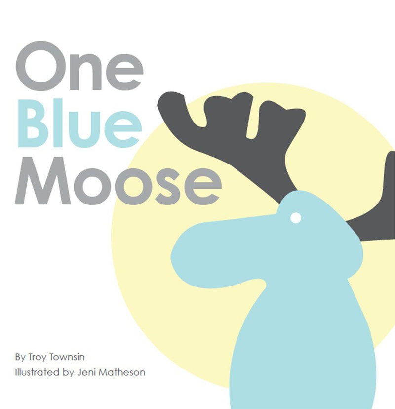 Book, One Blue Moose