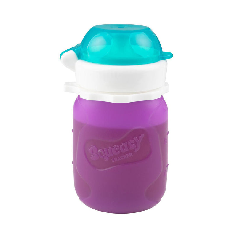 Squeasy Gear Food Pouch Snacker - 3.5oz - Purple