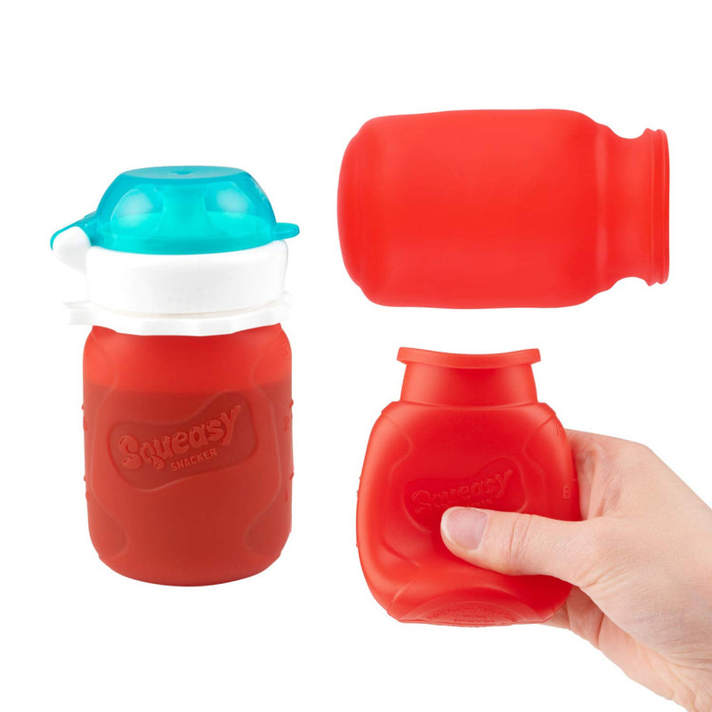 Squeasy Gear Food Pouch Snacker - 3.5oz - Red